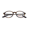 Unisex round eyewear for reading plastic frame with metal temple