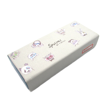 Portable Handmade Cartoon Printing Pattern Foldable Glasses Case Eyeglass Sunglasses Magnetic Leather Box