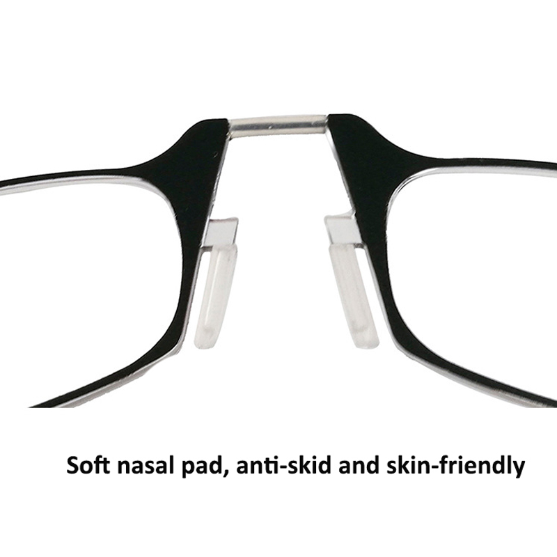 Mini nose clip portable SOS reading glasses with case pince nez optics