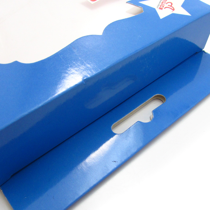 Paper box package with clear pvc window display package box