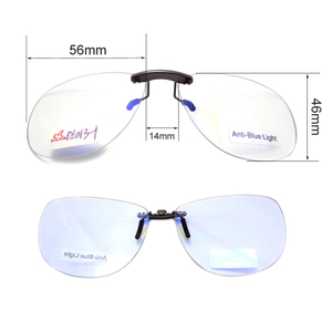 Aviator anti blue light blocking clip ons