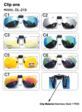 Polarized Clip On Sunglasses Driving Night Vision Lens Sun Glasses Male Anti-UVA UVB For Men Women Glasses