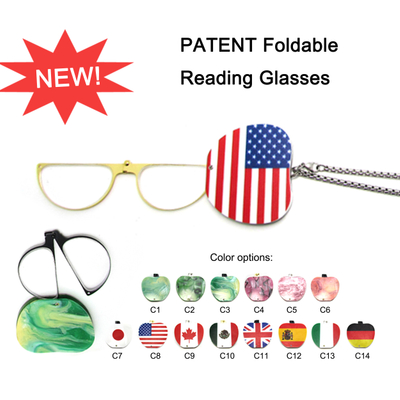 Women Hang Necklace Mini Women Reading Glasses without Arms