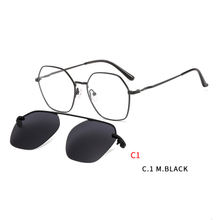 Vintage Magnetic Sunglasses Clip on for Men Women Metal Frame