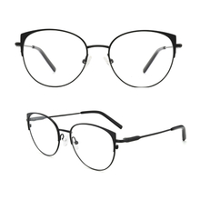 Metal Cat Eye Glasses with Clear Lens