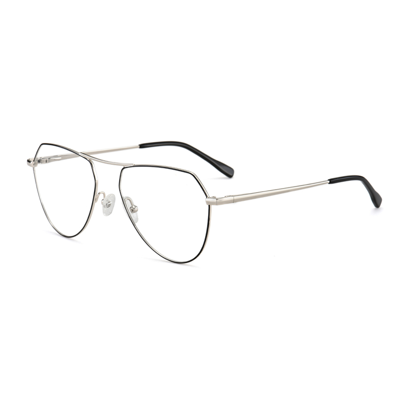 Clear Aviator Glasses Lens Premium Classic Metal Frame Eyeglasses
