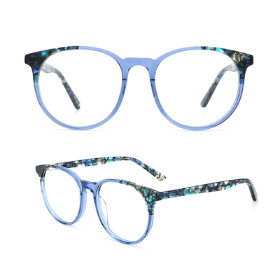 Retro round Optical Frame for Women Men Vintage Round Frame Fashion Stylish Acetate Eyewear Frame With Clear Lens