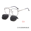 2 in1 Ultra Light Mens Optical Eyeglass Frame Style Glasses Eyewear With Magnetic Clip On Sunglasses For Driving