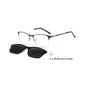 2 In 1 2020 Magnet Clip on Sunglasses Men Driving Brand Design Detachable Lens Rectangular Style Sun Glasses