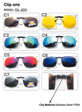 Polarized Clip On Driving Glasses Sunglasses Day Vision UV400 Lens Night Vision