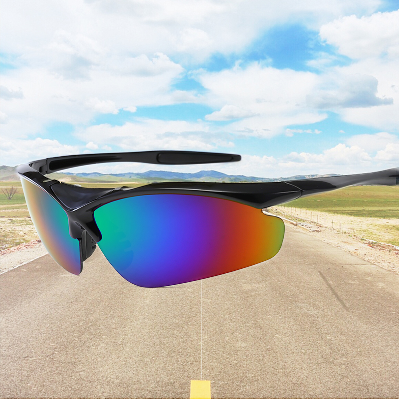 Cycling Glasses Bike Glasses Eyewear Running Fishing Sports Sunglasses PC Explosion-proof Sunglasses Travel Sunglasses