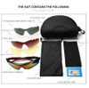 Sports Sunglasses Polarized UV400 Protection with 5 Lenses for Cycling Fishing Driving