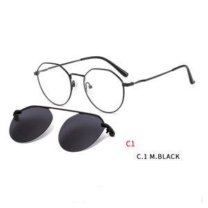 Fashion Magnetic Sunglasses Clip on for Men & Women UV400 Lens Clear Eyeglasses