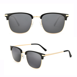 Classic Square Sunglasses Unisex UV400 Half Frame Square Sun Glasses
