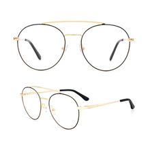 Retro Round Metal Frame Clear Lens Glasses Non-Prescription