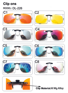 Polarized Clip-on Sunglasses Lenses Glasses Unbreakable Driving Fishing Outdoor Sport Travelling New