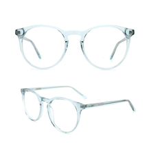 Retro round Optical Frame for Women Men Fashion Eyeglasses Acetate Eyewear Frame With Clear Lens