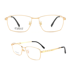 Non Prescription Glasses Frame with Titanium Optical Eyeglasses for Men/Women