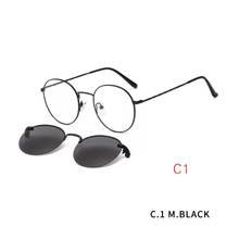 2 in1 Optical Spectacle Frame Men With Clip On Sunglasses Magnetic Glasses For Male Prescription Eyeglasses