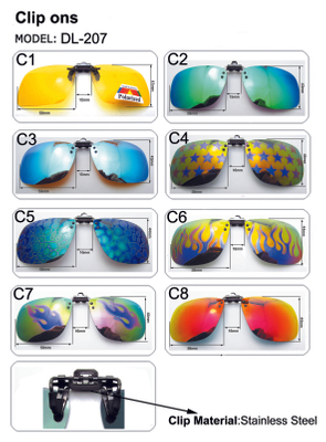 Men Women Polarized Clip On Glasses Driving Night Vision Lens Fishing Sunglasses Anti-UV Cycling Eyewear Clip