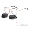 2 In1 Clip On Glasses Frames Magnetic Sunglass Clips Cat Eye Optics Women