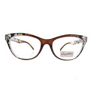 New Fashion Flower Reading Glasses Women Men Floral Pattern Eyeglasses Frame PC Presbyopic